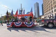 El desfile de Houston St Patrick Fotografía de archivo libre de regalías
