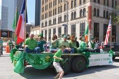 El desfile de Houston St Patrick Foto de archivo