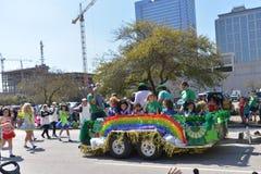 El desfile de Houston St Patrick Imagenes de archivo