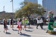 El desfile de Houston St Patrick Foto de archivo libre de regalías