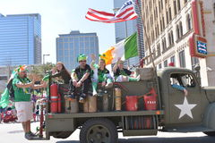 El desfile de Houston St Patrick Imagen de archivo libre de regalías
