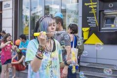 El desfile 2015 de la burbuja Imágenes de archivo libres de regalías