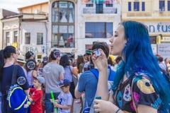 El desfile 2015 de la burbuja Imagenes de archivo