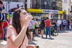 El desfile 2015 de la burbuja Foto de archivo