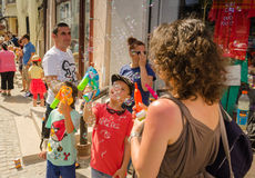 El desfile 2015 de la burbuja Fotos de archivo