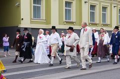 El desfile de la celebración 2011 de la canción y de la danza Imagen de archivo libre de regalías