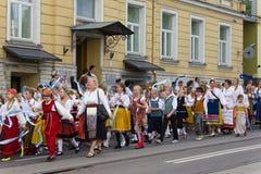 El desfile de la celebración 2011 de la canción y de la danza Fotos de archivo libres de regalías