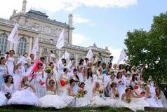 El desfile de la novia Fotos de archivo