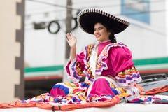 El desfile de la revolución mexicana del 20 de noviembre Fotografía de archivo