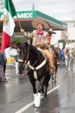 El desfile de la revolución mexicana del 20 de noviembre Imágenes de archivo libres de regalías