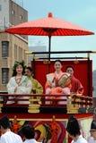 El desfile de las mujeres floridas del festival de Gion, Kyoto Japón Fotografía de archivo libre de regalías