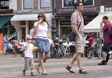 El desfile de las verduras es un evento anual en la ciudad de la cerámica de Delft Foto de archivo libre de regalías