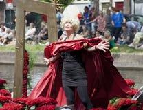 El desfile de las verduras es un evento anual en la ciudad de la cerámica de Delft Fotografía de archivo