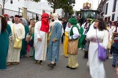 El desfile de los hombres sabios en Carmona 02 Imagenes de archivo