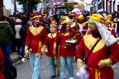 El desfile de los hombres sabios en Carmona 12 Imágenes de archivo libres de regalías