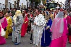 El desfile de los hombres sabios en Carmona 38 Fotografía de archivo libre de regalías