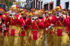 El desfile de los hombres sabios en Carmona 53 Imágenes de archivo libres de regalías