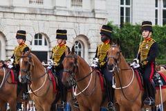 El desfile de los protectores de caballo en Londres Fotos de archivo libres de regalías