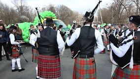 El desfile de St Patrick - irlandés almacen de metraje de vídeo