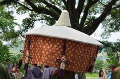 El desfile del festival de Kyoto Aoi, Japón fotografía de archivo libre de regalías