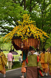 El desfile del festival de Kyoto Aoi, Japón foto de archivo