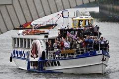 El desfile del jubileo de diamante de Thames Fotos de archivo libres de regalías