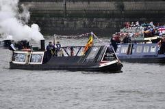 El desfile del jubileo de diamante de Thames Fotografía de archivo