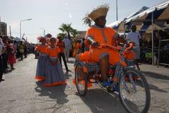 El desfile en Dia di Rincon Bonaire Fotografía de archivo