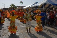 El desfile en Dia di Rincon Bonaire Imagen de archivo