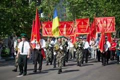 El desfile en el día de la victoria Imagenes de archivo