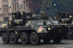 El desfile en Kiev en el día de la independencia de Ucrania el 24 de agosto de 2016 imagen de archivo