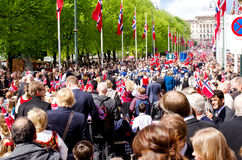 El desfile en Oslo en 17ma puede Foto de archivo