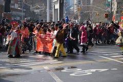 El desfile lunar chino 16 del Año Nuevo 2015 Fotografía de archivo