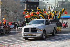 El desfile lunar chino 142 del Año Nuevo 2015 Imagenes de archivo