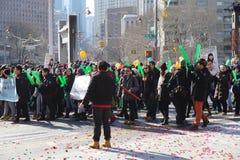 El desfile lunar chino 145 del Año Nuevo 2015 Foto de archivo