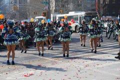 El desfile lunar chino 154 del Año Nuevo 2015 Foto de archivo libre de regalías