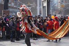 El desfile lunar chino 156 del Año Nuevo 2015 Imagen de archivo