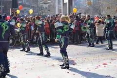 El desfile lunar chino 161 del Año Nuevo 2015 Imagen de archivo