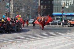 El desfile lunar chino 165 del Año Nuevo 2015 Foto de archivo