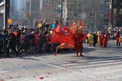 El desfile lunar chino 166 del Año Nuevo 2015 Foto de archivo libre de regalías
