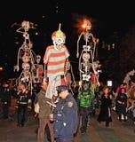 El desfile más grande de Víspera de Todos los Santos Foto de archivo libre de regalías