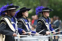 El desfile nacional del Día de los caídos foto de archivo
