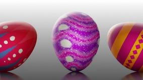El desfile //1080p de Pascua que rueda el fondo video de los huevos de Pascua coloca stock de ilustración