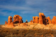 El desierto arquea el parque nacional fotos de archivo