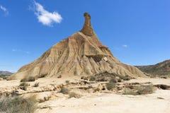El desierto de los reales de los bardenas Imagenes de archivo