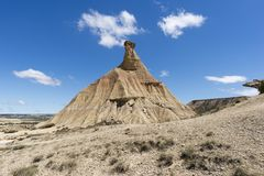 El desierto de los reales de los bardenas Fotografía de archivo libre de regalías