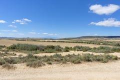 El desierto de los reales de los bardenas Fotos de archivo