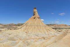 El desierto de los reales de los bardenas Fotos de archivo libres de regalías
