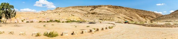 El desierto del Néguev Fotos de archivo