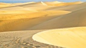 El desierto en Gran Canaria Imágenes de archivo libres de regalías
